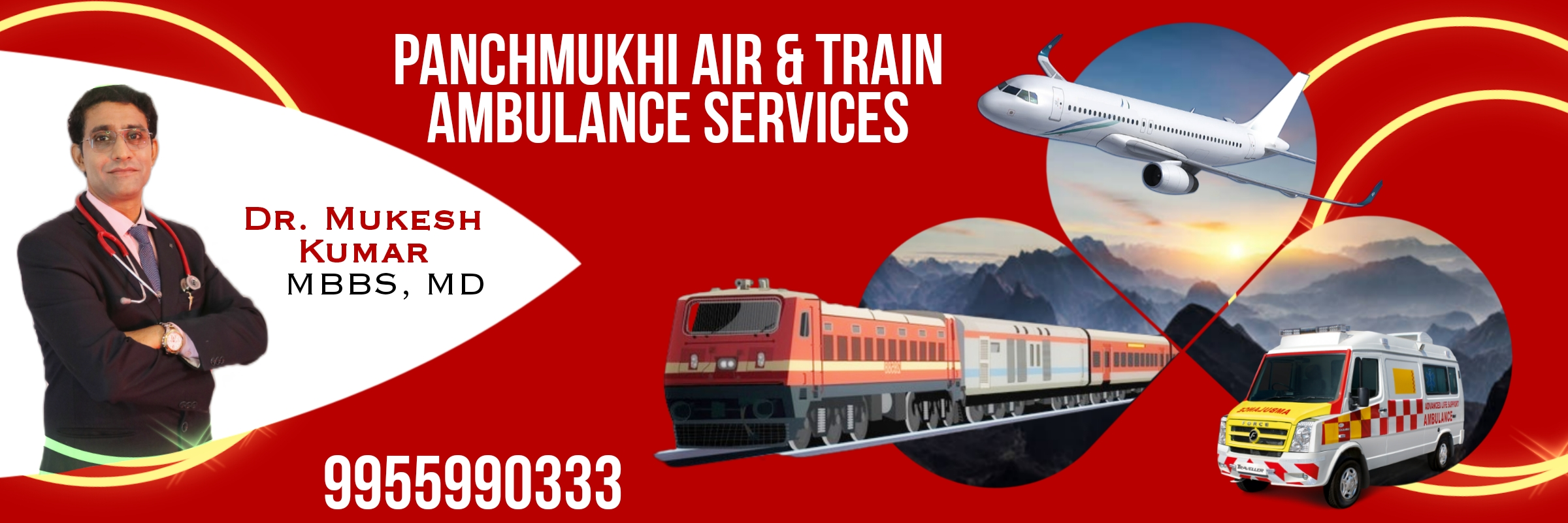 Panchmukhi Air Ambulance Services in Silchar, Train