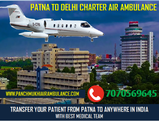 Air and Train Ambulance Patna to Delhi