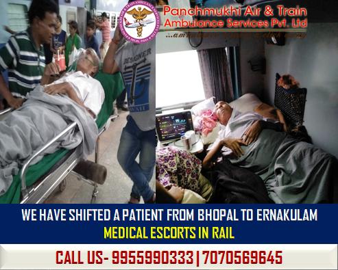 Rail Ambulance service from Bhopal
