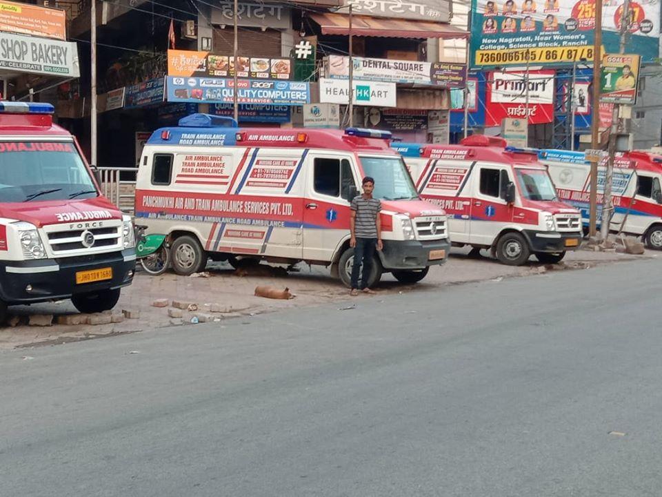 Panchmukhi Air and Train Ambulance Services in Muzaffarpur Purnea Raxaul