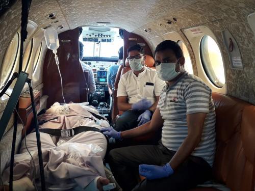 Bhubaneswar to Delhi Air Ambulance Facilities: PANCHMUKHI
