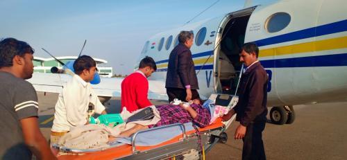 Panchmukhi Air Ambulance from Guwahati to Delhi