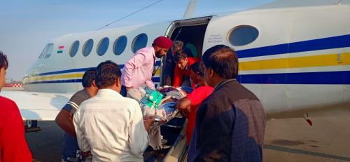 Panchmukhi Air Ambulance from Kolkata to Delhi