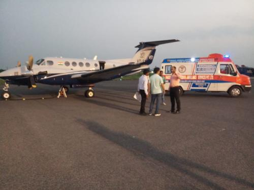 Panchmukhi Air Ambulance with Medical Team