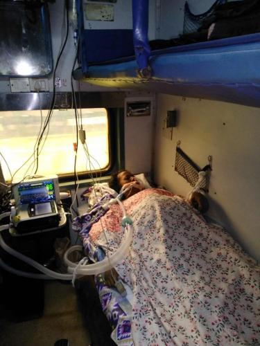 Panchmukhi Train Ambulance from Bagdogra to Delhi